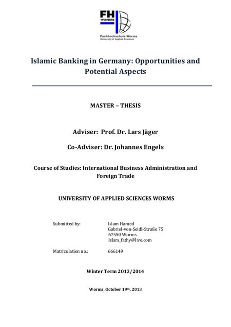 islamic banking dissertation ms thesis phd thesis islamic banking 187 read this