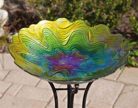 colorful bird baths pin by evergreen enterprises on outdoor garden