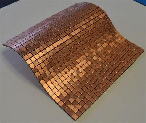 mosaic stick on backsplash flexipixtile aluminum peel stick mosaic tile kitchen