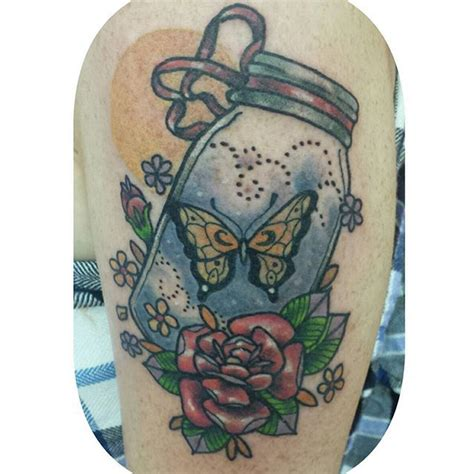 butterfly jar tattoo 1000 images about in a bottle tattoos on pinterest