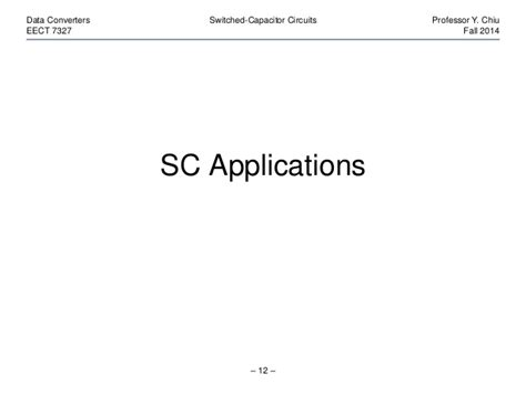 capacitor applications ppt switched capacitor applications 28 images chapter10 operational lifier applications ppt cas