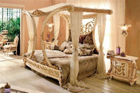 beautiful canopy bedroom sets beautiful royal golden cleopatra canopy bed hand carved