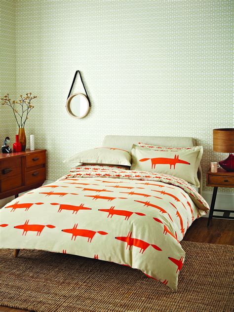 fox bedding mr fox double duvet set by scion wallpaper direct