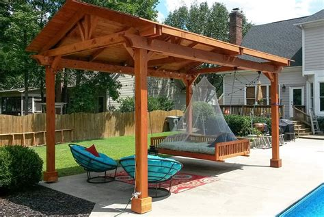 covered gazebo covered pergolas made of redwood outdoor ideas