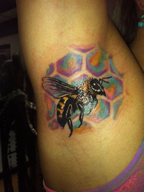 underarm tattoo care love colors honey bee armpit tattoo candy color