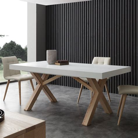 tavoli da pranzo moderni allungabili drammen tavolo da pranzo allungabile 360 cm in massello di