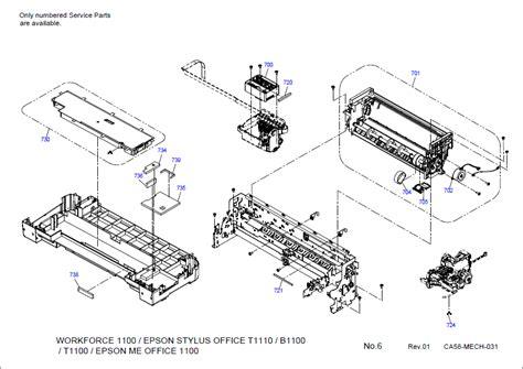 reset printer epson stylus office t30 epson workforce 520 parts diagram bing images