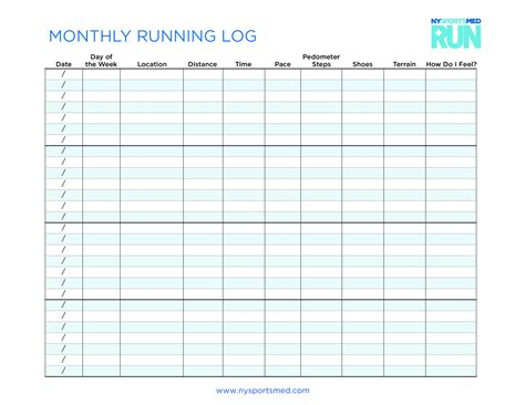 running log template running log template choice image template design ideas