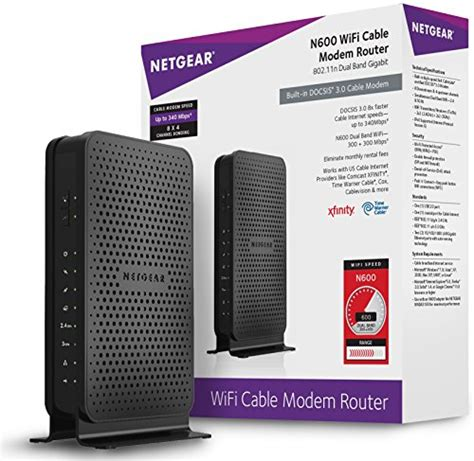 linksys docsis 3 0 8x4 cable modem certified with comcast netgear n600 8x4 wifi docsis 3 0 cable modem router