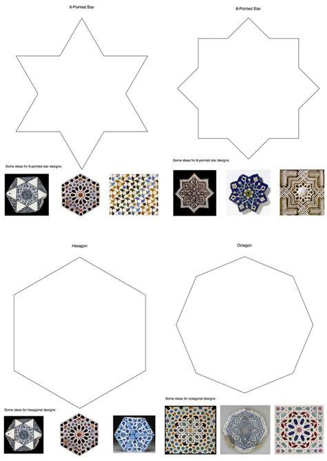 islamic pattern outline islamic tile template art unit printmaking pinterest