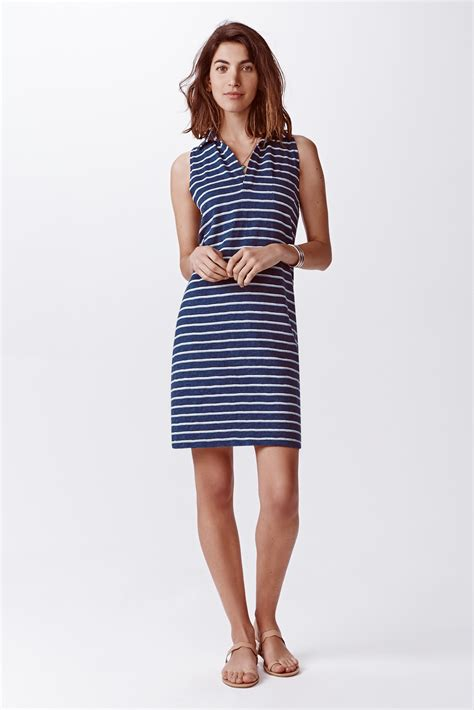 Dress Polos 2 lyst faherty brand stripe polo dress in blue