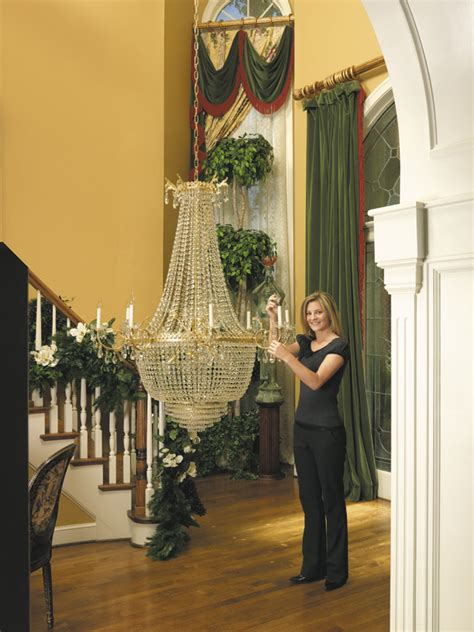 Chandelier Pulley System Chandelier Photo Gallery Aladdin Light Lift