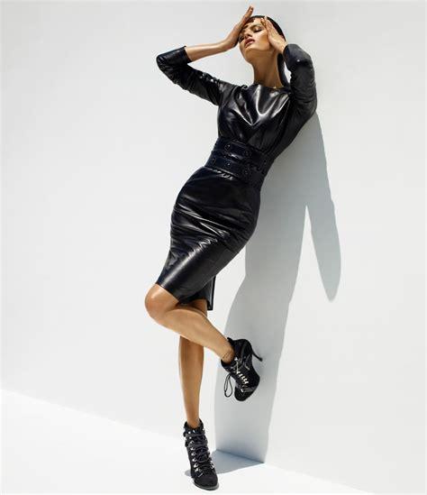leather fasyen isabeli fontana leather fashion hq