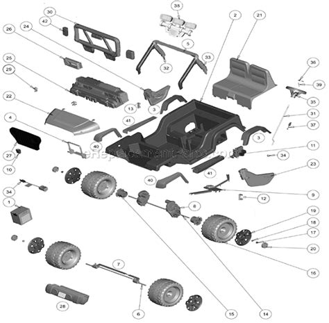 power wheels jeep replacement wheels power wheels cbg65 parts list and diagram