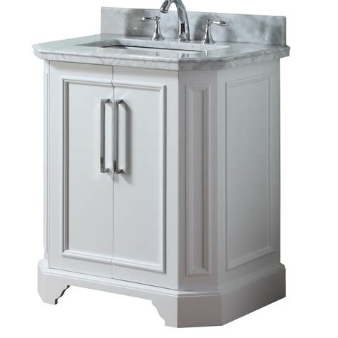 shop allen roth delancy white undermount single sink birch bathroom vanity  natural marble