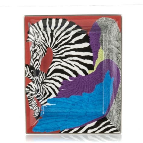 Change Your Spots With A Zebra Scarf Handbag by Hermes Porcelain Zebra Pegasus Change Tray Bougainvillea