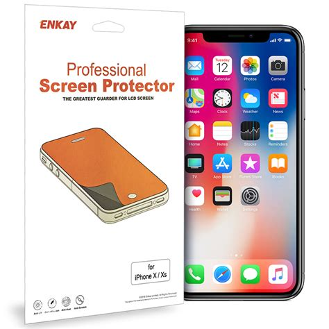 enkay 2 pack clear screen protector apple iphone xs