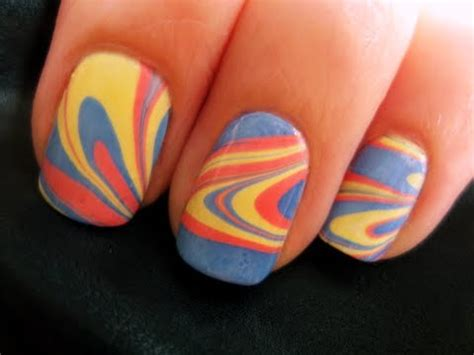 nail design marble effect beauty diy gorgeous water marble nail art skin magazine