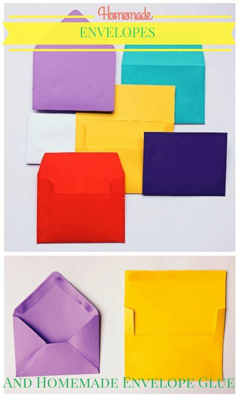 How To Make A Handmade Envelope - how to make handmade envelopes with envelope glue