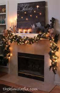 quot o come let us adore him quot rustic christmas mantle the