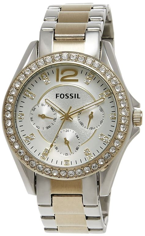 fossil s es3204 silver and gold