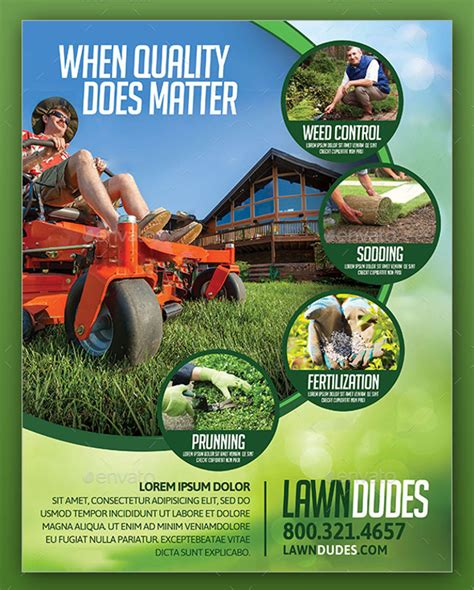 service flyer template print lawn care flyers studio design gallery best