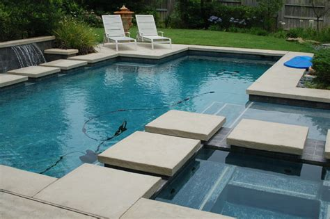 contemporary pools cypress custom pools modern style pool w stepping