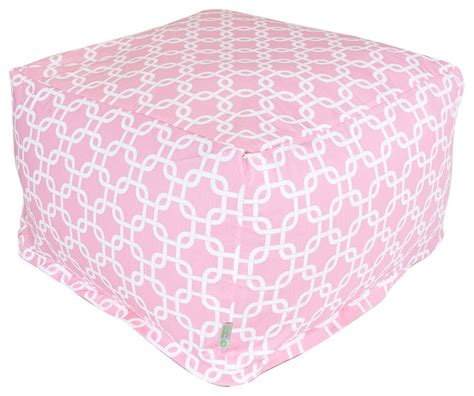 soft ottoman cube indoor soft pink links large ottoman contemporary