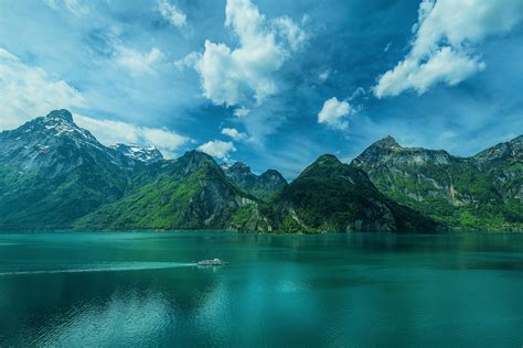 boat cloud boat cloud forest lake mountain sky turquoise wallpaper