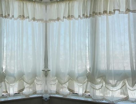 pull up drapes french country white balloon shade pull up austrian cafe
