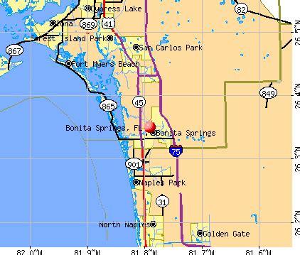 bonita bay florida map bonita springs florida fl profile population maps