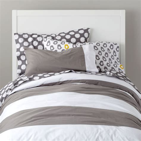 grey and white striped bedding girls bedding sheets duvets pillows the land of nod