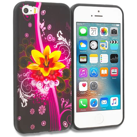 for apple iphone 5 5s se design tpu soft rubber skin