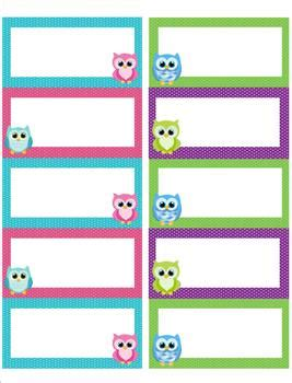 free printable owl note cards owl label name tags owl labels name tags and teaching