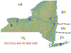 Physical Map Of New York by Smart Exchange Usa New York Political And Physical Map