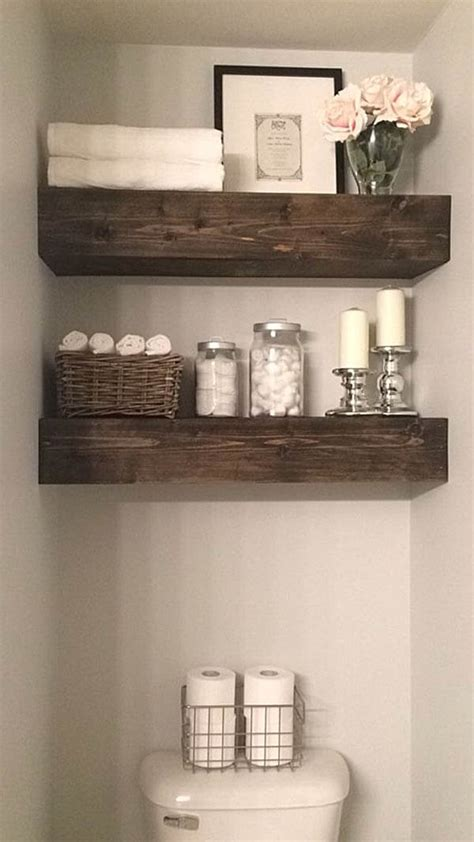 decorating ideas for bathroom shelves 36 best farmhouse bathroom design and decor ideas for 2017