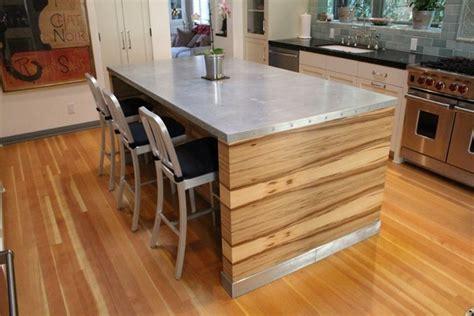 zinc countertops vintage  modern style   kitchen