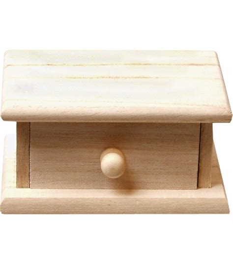 small wood storage box with drawer jo