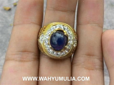 batu cincin permata blue safir kode 343 wahyu mulia