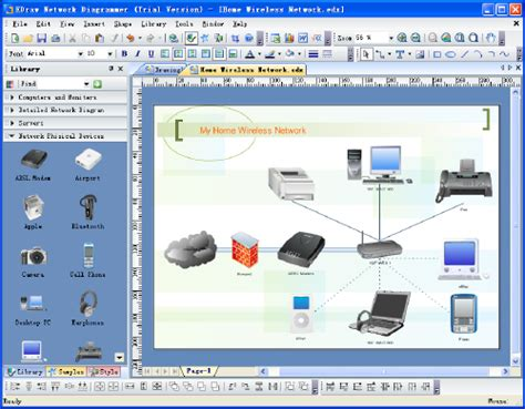 home network design software network diagrams