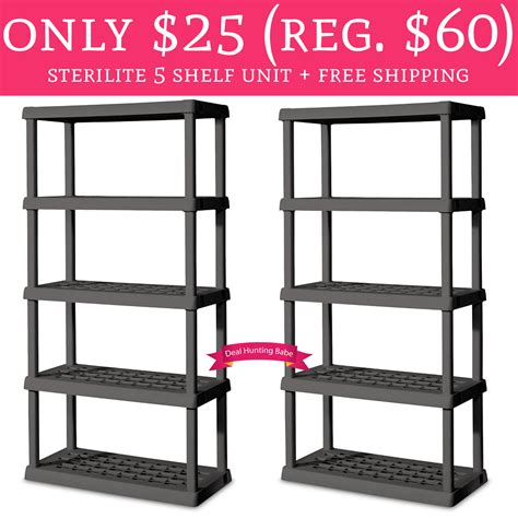 On A Shelf Free Shipping by Wow Only 25 Regular 60 Sterilite 5 Shelf Unit Free Shipping Deal