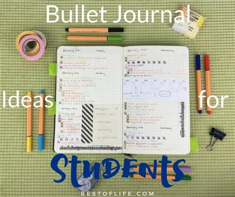 ideas for bullet journal ideas for students nifty planner