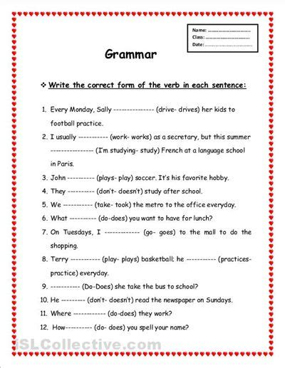 printable grammar worksheets worksheet printable grammar worksheets hunterhq free