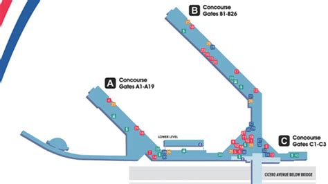 chicago midway map where to eat at chicago midway international airport mdw
