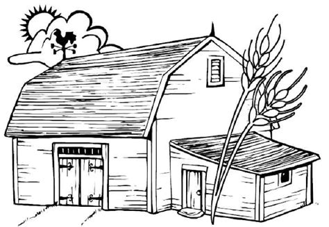 barn house coloring page free printable childrens coloring pages