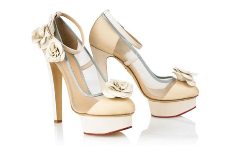 Wedding Shoes High Heels Ivory by Ivory And Taupe High Heel Wedding Shoes Onewed
