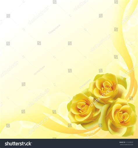 Wedding Background Layout by Yellow Roses Flower Background Pattern Layout Stock Vector
