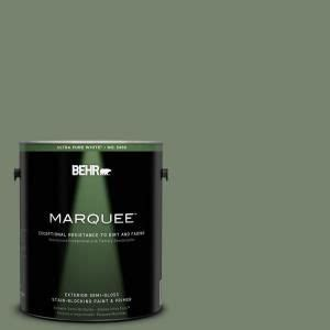 behr marquee paint 1 gal mq6 16 gazebo green semi gloss enamel ext