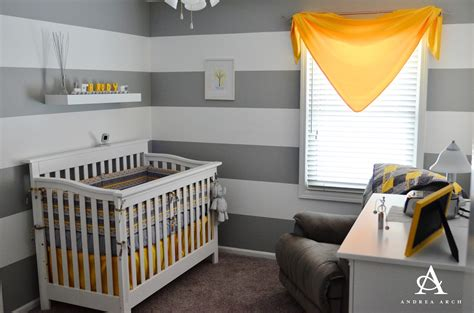 yellow and gray baby room yellow grey gender neutral nursery project nursery