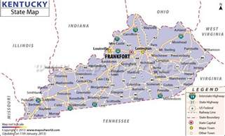 Kentucky Usa Map by Kentucky State Map
